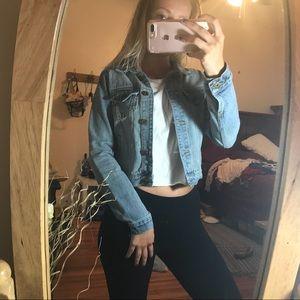 Jean jacket crop